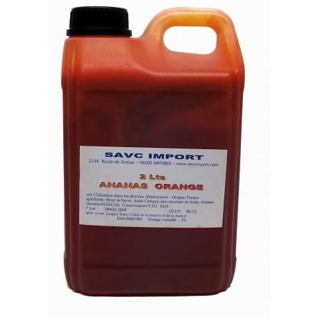 Concentré Orange-Ananas pour granité 2 litres