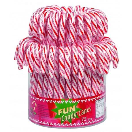 Candy canes rouge et blanc tubo de 72