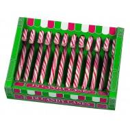 Candy canes rouge et blanc x 12 pièces 170 grs