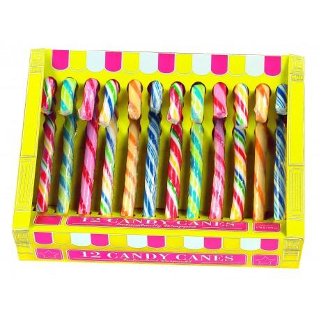 Candy canes goût fruits x 12 pièces 170 grs