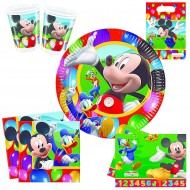 "Set Anniversaire Décor ""Mickey Party Time"""