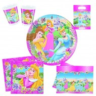 "Set Anniversaire Décor ""Disney Princesses Journey"""