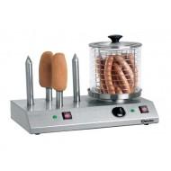 Appareil à hot-dogs électrique avec 4 plots chauffés