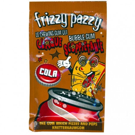 Frizzy Pazzy Cola. Chewing-gum explosif