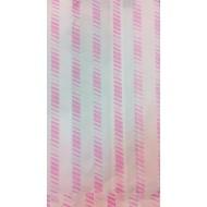 Sachet papier Kraft Blanc rayé Rose par 500 sacs