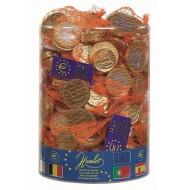 Filets Pièces de monnaie Euro Or Lait 24 Grs Tubo 1.44 Kg