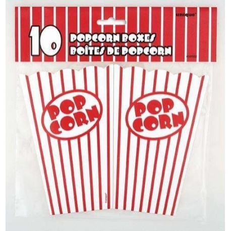 Gobelet Pop corn 75 cl X 10 rouge et blanc