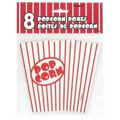 Gobelet Pop corn 65 cl X 8 rouge et blanc