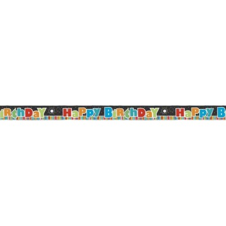 Birthday Stripes Foil Banner