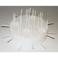 Support Plastique pour Gateau à Bonbons 22 cm Blanc