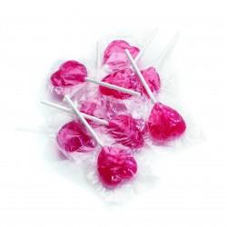 Sucettes Coeur Fruit 1200 Grs (+/-100 Pcs)