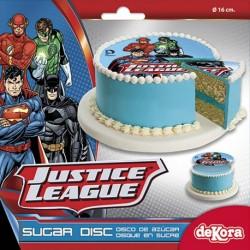 Disque en Sucre Superman et Batman 16 cm