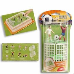 Kit de décoration Football pour gâteau