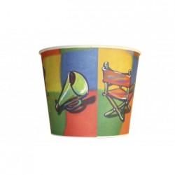 Gobelet pop corn Carré 130 Oz 384cl x 140