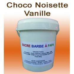 Sucre à barbe à papa Choco-Noisette-Vanille 800g