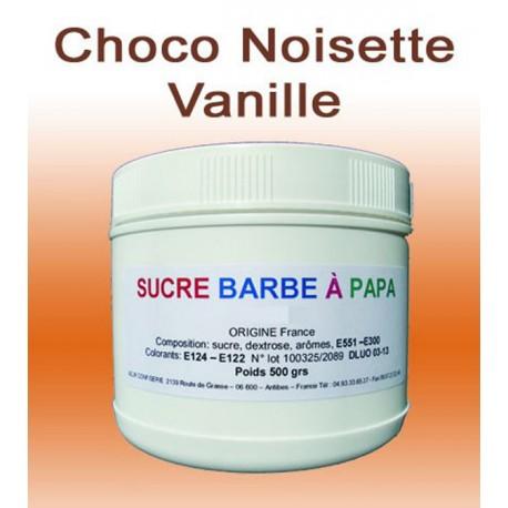 Sucre à barbe à papa Choco-Noisette-Vanille 500g