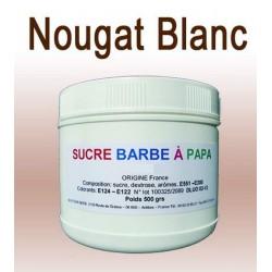 Sucre à barbe à papa Nougat blanc 500g