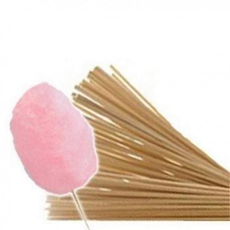Pack de +/-1000 bâtons en bois 40 cm pour barbe à papa