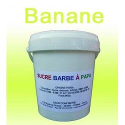 Sucre à barbe à papa Banane 1000 g