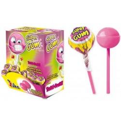 Sucette Super Gum Tutti frutti 16 grs. Boite 100 Unités