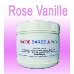 Sucre barbe à papa Rose Vanille 500g