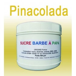 Sucre à barbe à papa Ananas-Coco/Pinacolada 500 grs