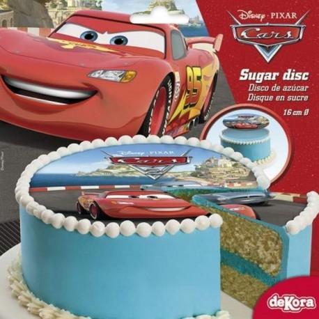 Disque en Sucre Cars 16 cm