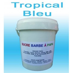Sucre barbe à papa Tropical Bleu 1000g
