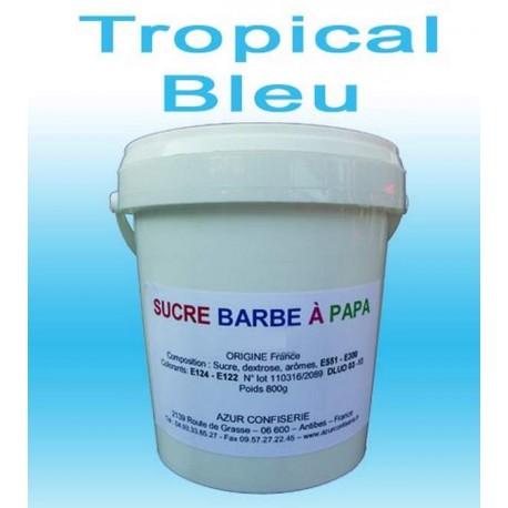 Sucre barbe à papa Tropical Bleu 1000g