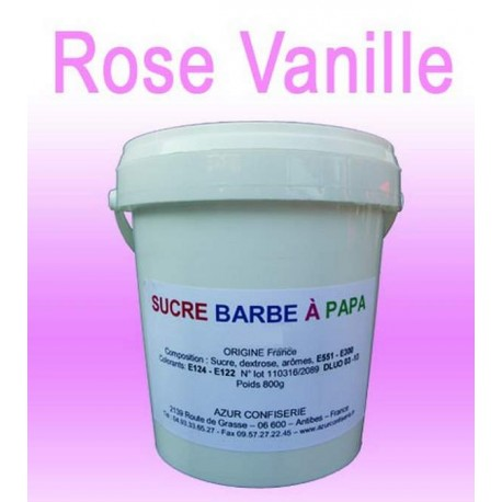 Sucre barbe à papa Rose Vanille 1000g