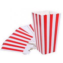 Gobelet pop corn 24 oz (71 cl) x 100 - 45 grs. Rouge et Blanc