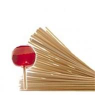 Pack de +/-100 bâtons Rond en bois 15 cm pour Pomme d'amour