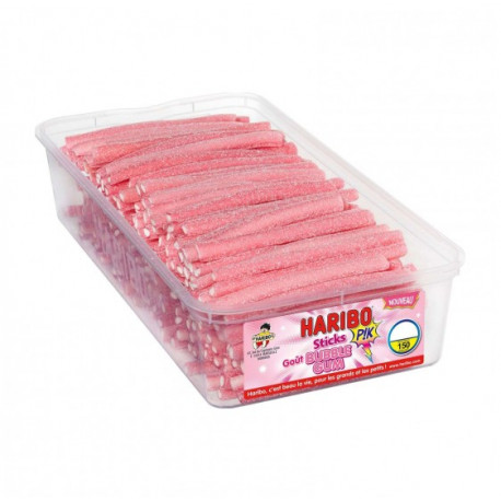 Sticks Bubble Gum P!K Haribo 150 pièces