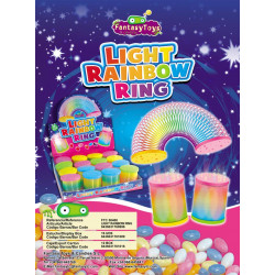 Light Rainbow Ring x 16 unités