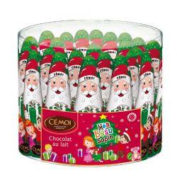 Père Noël 40 Grs Tubo de 24 Pièces 15 cm Cemoi