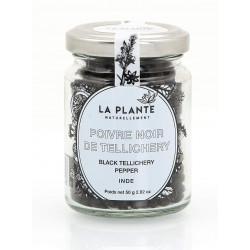 Poivre Noir de Tellechery Bio pot de 50 Grs
