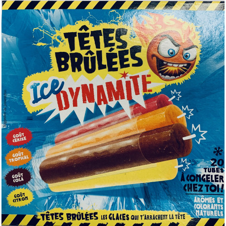 Sucettes a Congeler X 20 Têtes Brûlées Ice Dynamite