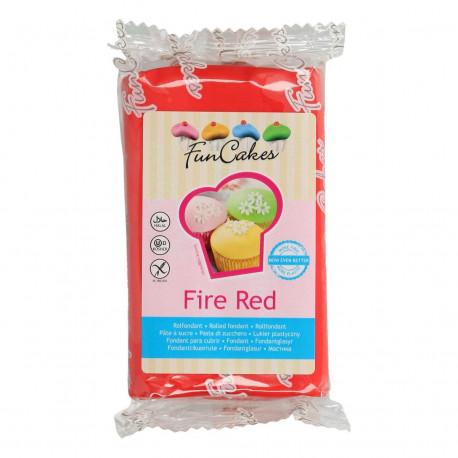 Pâte a sucre/Fondant déco Fire Red Funcakes 250 grs