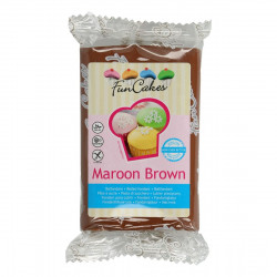 Pâte a sucre/Fondant déco Maroon Green Funcakes 250 grs