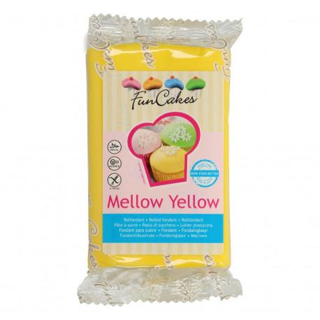 Pâte a sucre/Fondant déco Mellow Yellow Funcakes 250 grs