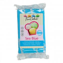 Pâte a sucre/Fondant déco Sea Blue Funcakes 250 grs