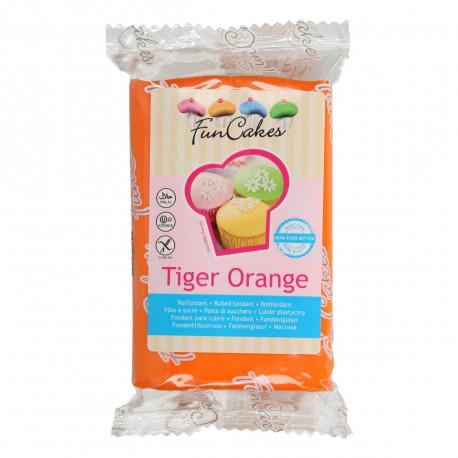 Pâte a sucre/Fondant déco Tiger Orange Funcakes 250 grs
