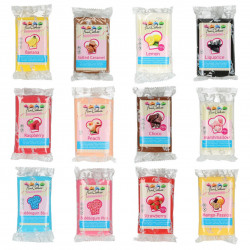 Pâte a sucre/Fondant Aromatisé déco Assorties Funcakes 12 X 250 grs