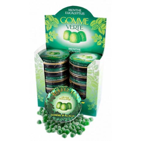 Gommes Vertes Menthe Eucalyptus Coffret de 12 boites