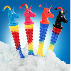 Yard Cups/Ice Cup Licorne Spirale Pet 350 ml. Colis de 144 tubes