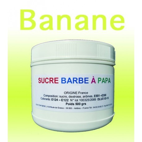 Sucre à barbe à papa Banane 500 g