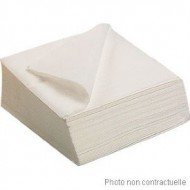 Serviettes 38 X 38 - 2 Plis x 50 pièces blanc